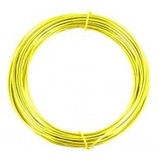 Coloured Copper Wire Fluo Yellow 0.3mm 15 metre