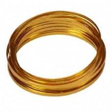 Flat Aluminium Wire Gold 2 Metre