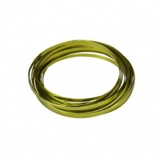 Flat Aluminium Wire Green 2 Metre