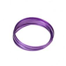 Flat Aluminium Wire Lavender 2 Metre