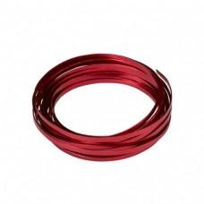 Flat Aluminium Wire Red 2 Metre